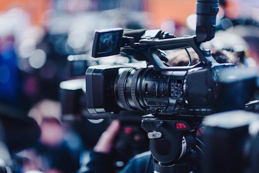 Camera at a press conference kiev